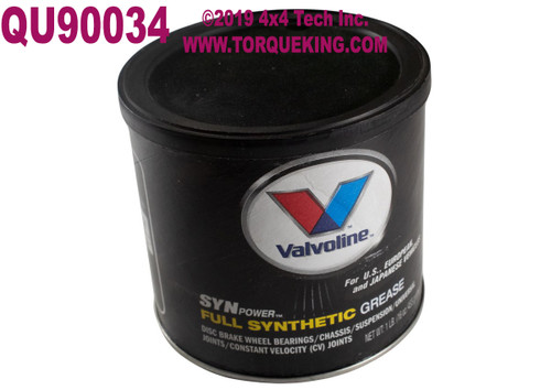 QU90034 Valvoline SynPower Full Synthetic Grease - Torque King 4x4