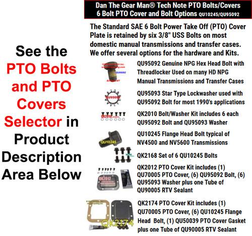 PTO Bolts/Cover Selector - Torque King 4x4
