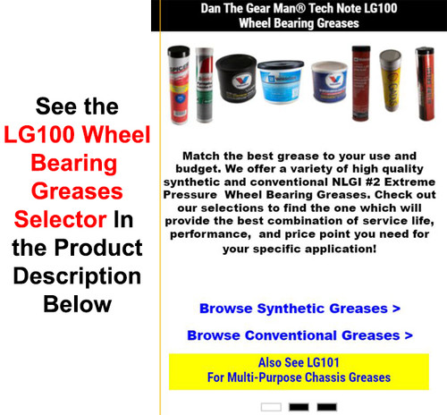 LG100 Wheel Bearing Greases - Torque King 4x4
