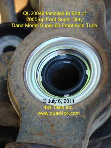 Qu20049 Dana 60 Cartridge Type Axle Tube Dust Seal For Ford Super Duty