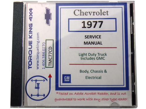 1977 chevy truck alternator wiring diagram tmc77cd 1977 gm factory c k truck repair manual on cd  1977 gm factory c k truck repair manual