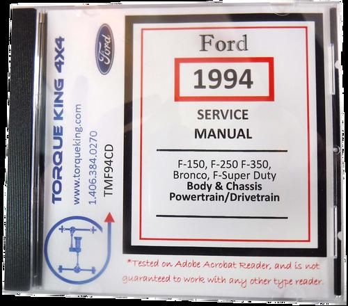 Car Manuals & Literature Service & Repair Manuals 1994 Ford L ...