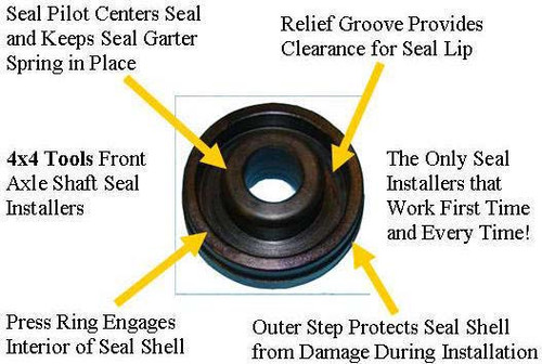 Qt1070 Right Side Front Inner Axle Seal Installer For 2000 2002 Ram