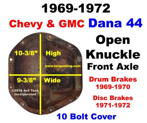 Dana 44 Parts, Tools, Manuals 1969-1972 GM Open Knuckle