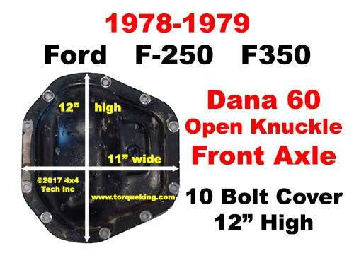 How to ID a 1978-1979 Ford F-250, F350 Dana 60 Front Axle