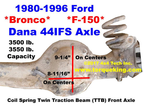 Dana 44IFS Parts, Tools, Manuals for 1980-1996 Ford Bronco