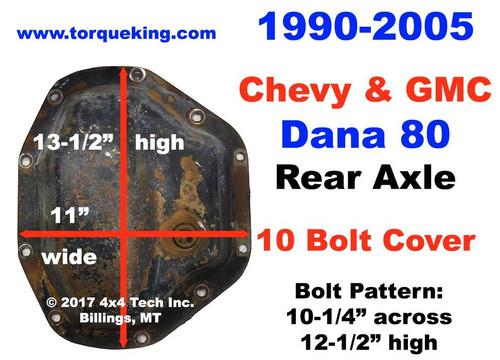 Dana 80 Parts, Manuals for 1990-2005 GM Rear Axle