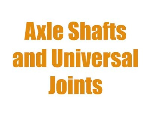 Dana 50 Axle Shafts and U-Joints 1999-2002 Ford Super Duty