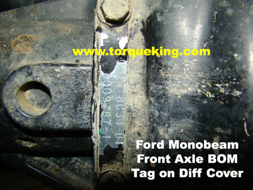 Identifying 1999 2004 Ford Super Duty Dana 60 Front Axles