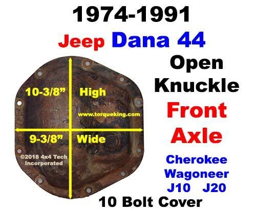 Dana 44 Parts, Tools, Manuals 1974-1991 Jeep J-Series Front Axle