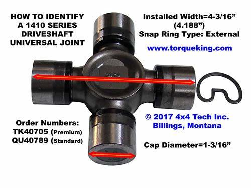 ID 1410 and 1415 Driveshaft U-Joints