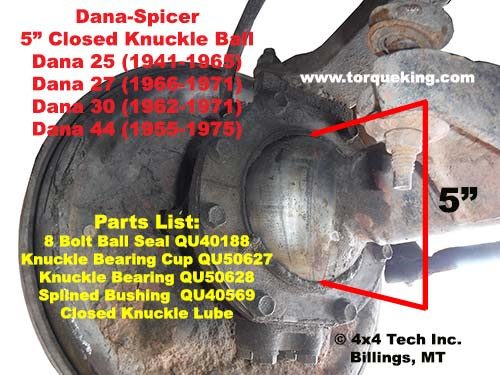 ID Dana Spicer Closed Knuckle Front Axle