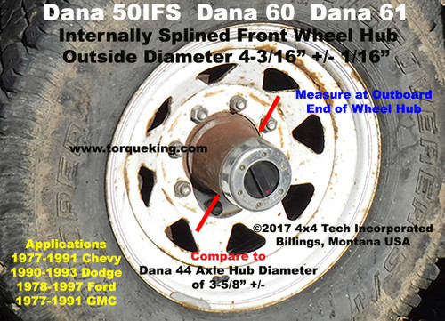 ford dana 50ifs ttb identification