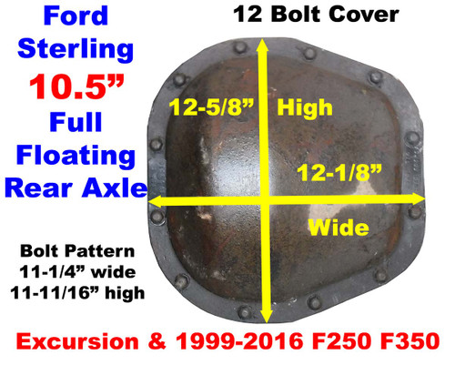 Ford Sterling Axle Id Cover