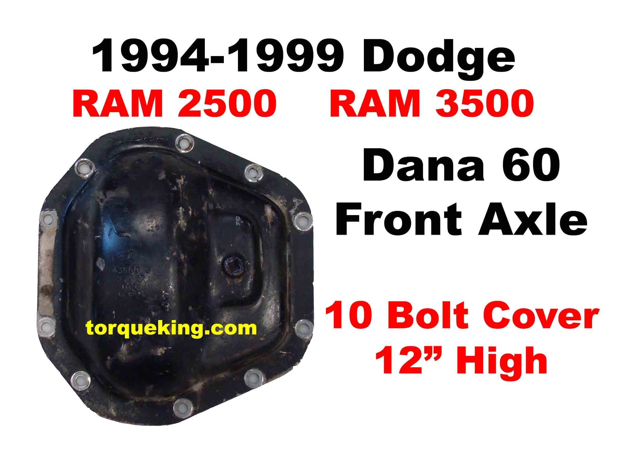 Dodge Dana 60 Front Axle Buy Parts Tools For 1994 To 1999 Ram 2500 3500 Dana 60 Front Axles Torque King