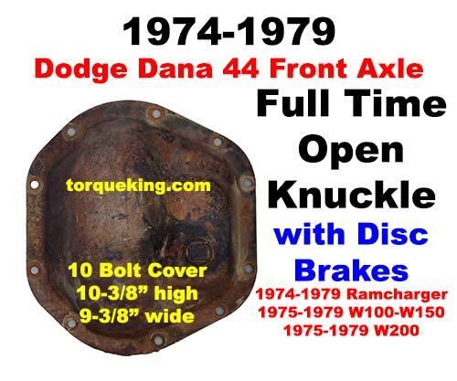 SPINDLE WHEEL HUB FULL TIME 4X4 1974-79 DODGE DANA 44 FRONT 8 LUG