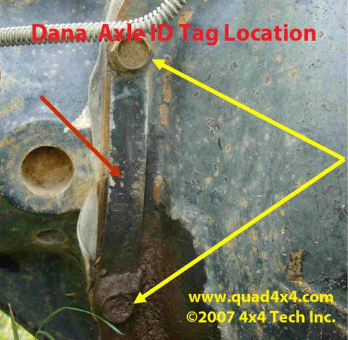 Dana Axle Id | Learn More About Dana Axle ID Tag Location