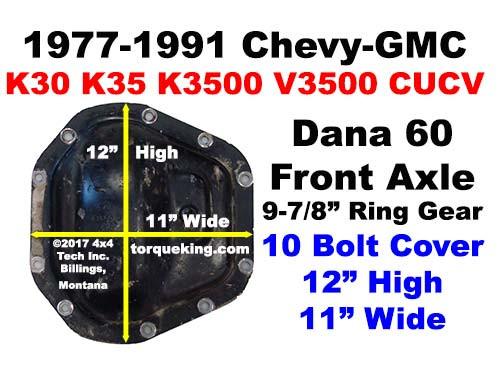ID a 1977-1991 GM Dana 60 Front Axle IDN-119 - Torque King 4x4