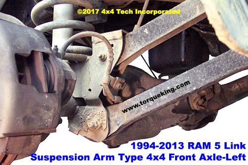 dodge ram 5 link front coil link suspension torque king 4x4 2005 Dodge Ram Rear Suspension right side coil link front suspension typical of 1994 2013 dodge and ram 4x4