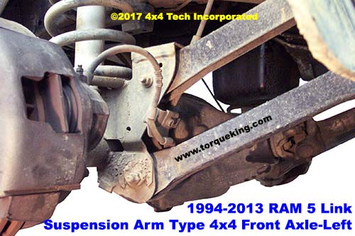 Dodge Ram Link Radius Arm Front Suspension Left