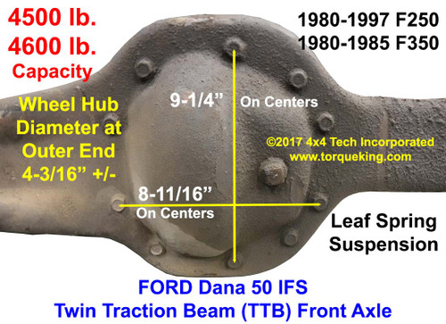dana 50 front axle identification | learn about 1980-1997 ford dana 50ifs  front axle identification idn-135 - torque king 4x4