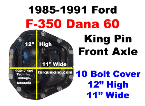 Ford Front Axle Identification Learn About The 1985 1991