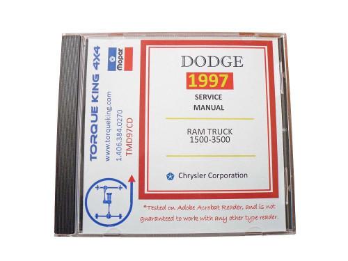 1997 Dodge Ram Truck Shop Service Repair Manual CD Engine Drivetrain Electrical