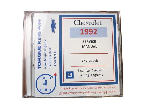 TMC92CD 1992 GM Shop Manual on CD on