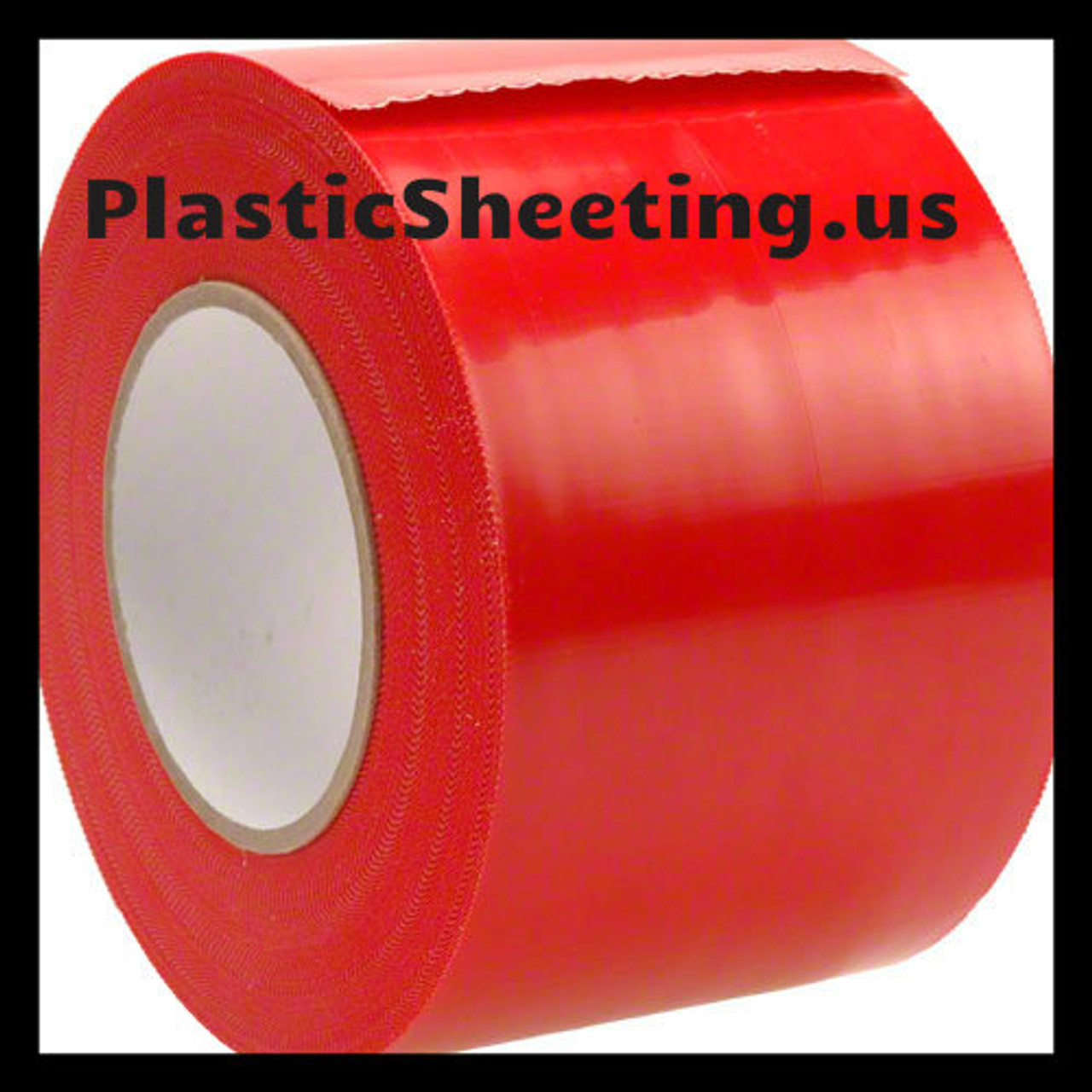 Plastic Sheeting Sealing Tape Yellow Guard Red 4