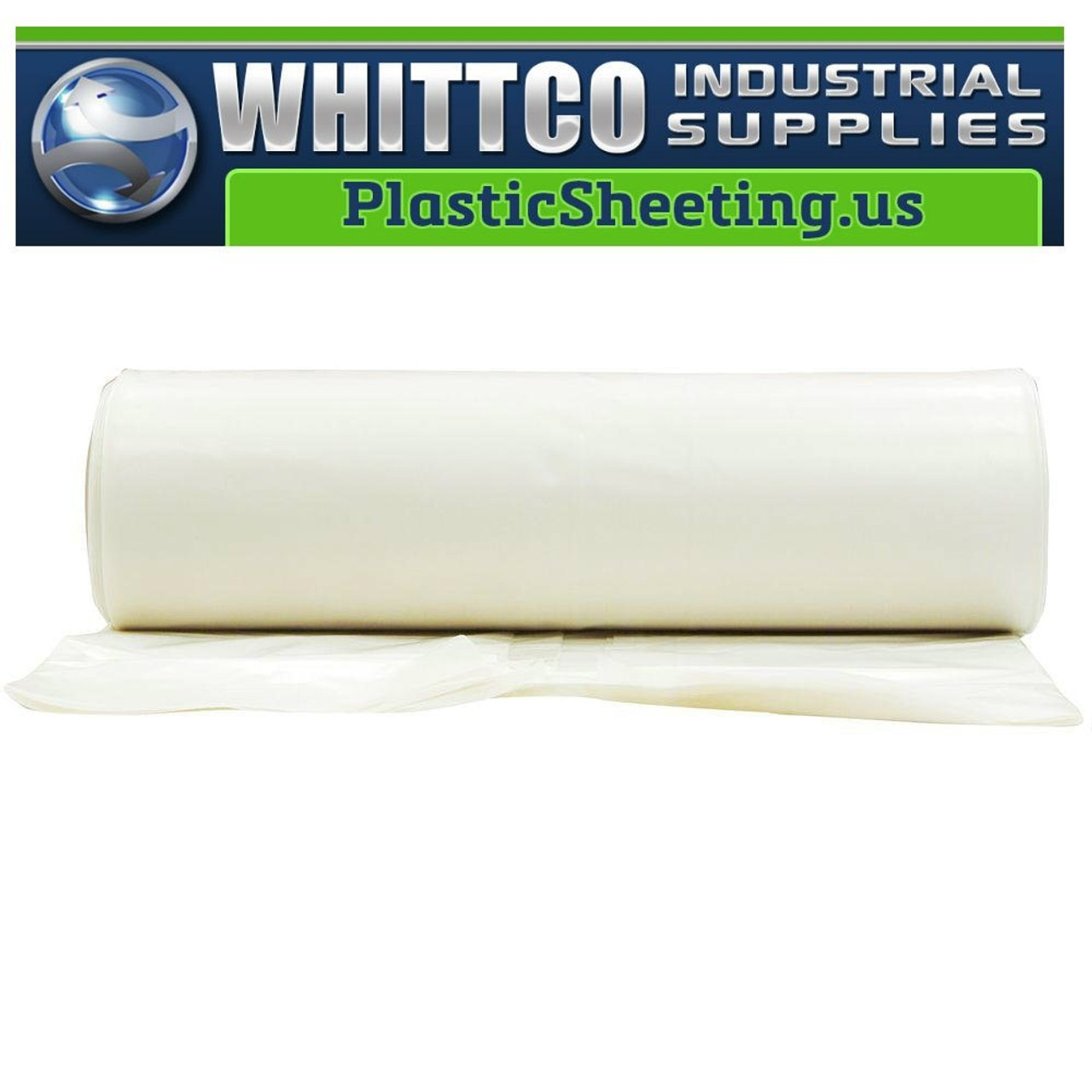 Made in USA Moisture Barrier Husky 40/' x 100/' 4 MIL Clear Plastic Sheeting
