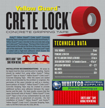 Crete Lock Concrete Gripping Tape Yellow Guard
