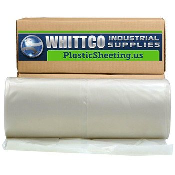 20' X 100' White 10 Mil Polyethylene Flame Retardant Plastic Sheeting  WHITE