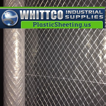 6 mil Reinforced Clear Power Scrim 2 Plastic Sheeting R5CC