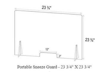 Sneeze Guards portable