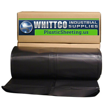 6.0 Mil Black  Plastic Sheeting Construction Film  28' X 100'