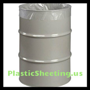 HWY4-55 HUSKY,husky, LINER DRUM 55 HWY455 GALLON 3MIL CLEAR 55ROLL polyamerica POAHWY455