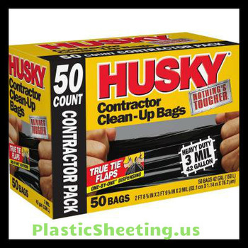 42 gallon Contractor bags Husky 50 bags per case