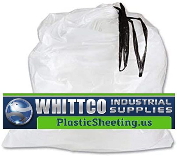 Drawstring Drum liners 55 gallon clear 35.5x42.5 (DT55DRUM)
