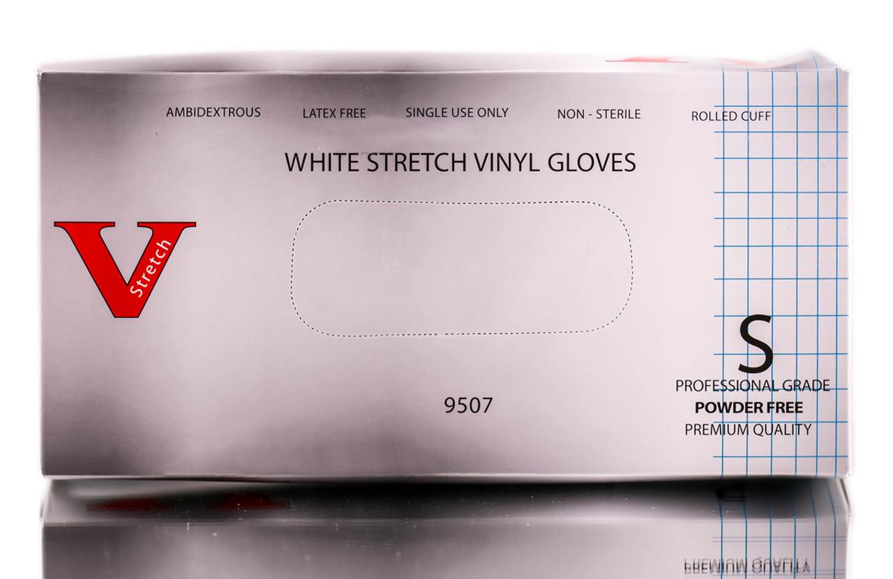 V Stretch White Vinyl Gloves Sleekshop Com