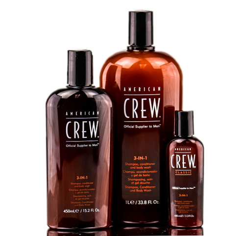 American Crew Classic 3-in-1 Shampoo, Conditioner, Body Wash