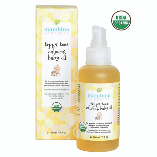 Mambino Organics Tippy Toes Calming Baby Oil