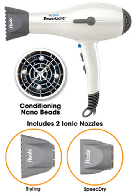 Bio Ionic Powerlight  NanoIonic Pro Hair Dryer