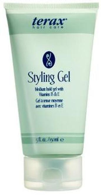 Terax Hair Care Styling Gel - medium hold gel with vitamins B & E