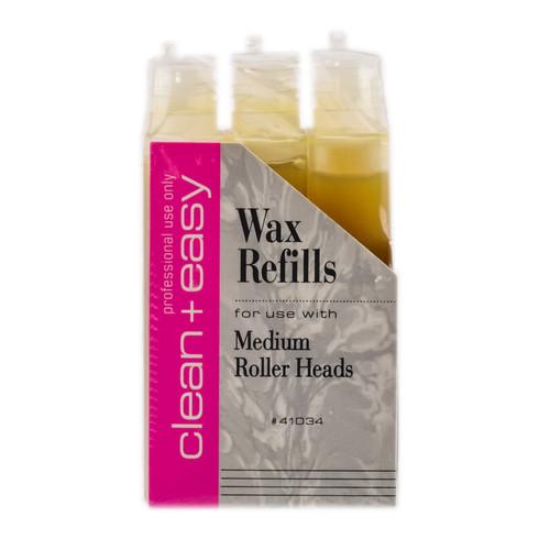 Clean+Easy Wax Refills Medium Roller Heads
