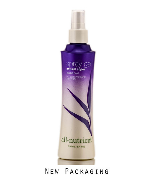 All - Nutrient Spray Gel, Natural Styler, Flexible Hold Hair Spray, 100% Vegan
