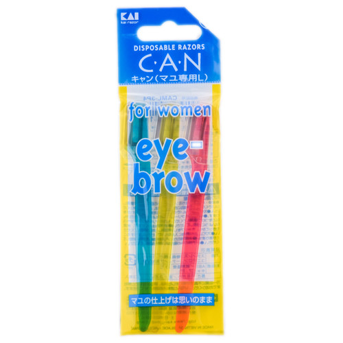 Other Accessories: KAI C.A.N Disposable Razors Eye Brow For Women