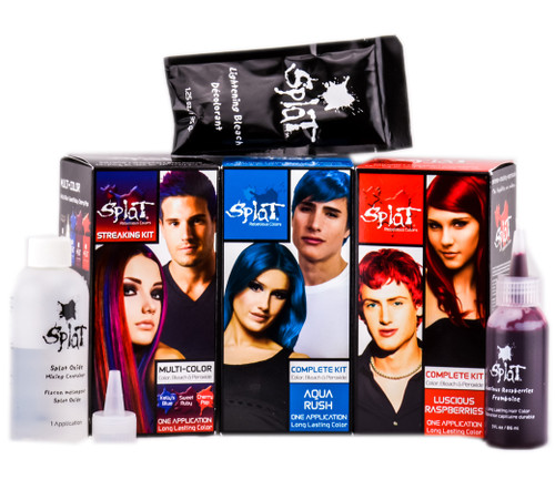 Splat Rebellious Colors Complete Hair Color Dye Kit with Bleach & Developer