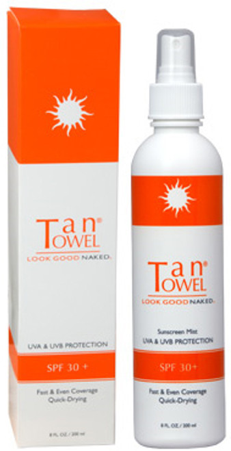 TanTowel Sunscreen Mist with UVA & UVB Protection SPF 30+