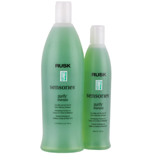 Rusk Purify Shampoo - cucurbita & tea tree oil deep cleansing shampoo
