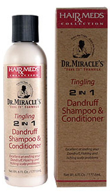 Dr. Miracle's 2 in 1 Tingling Dandruff Shampoo & Conditioner